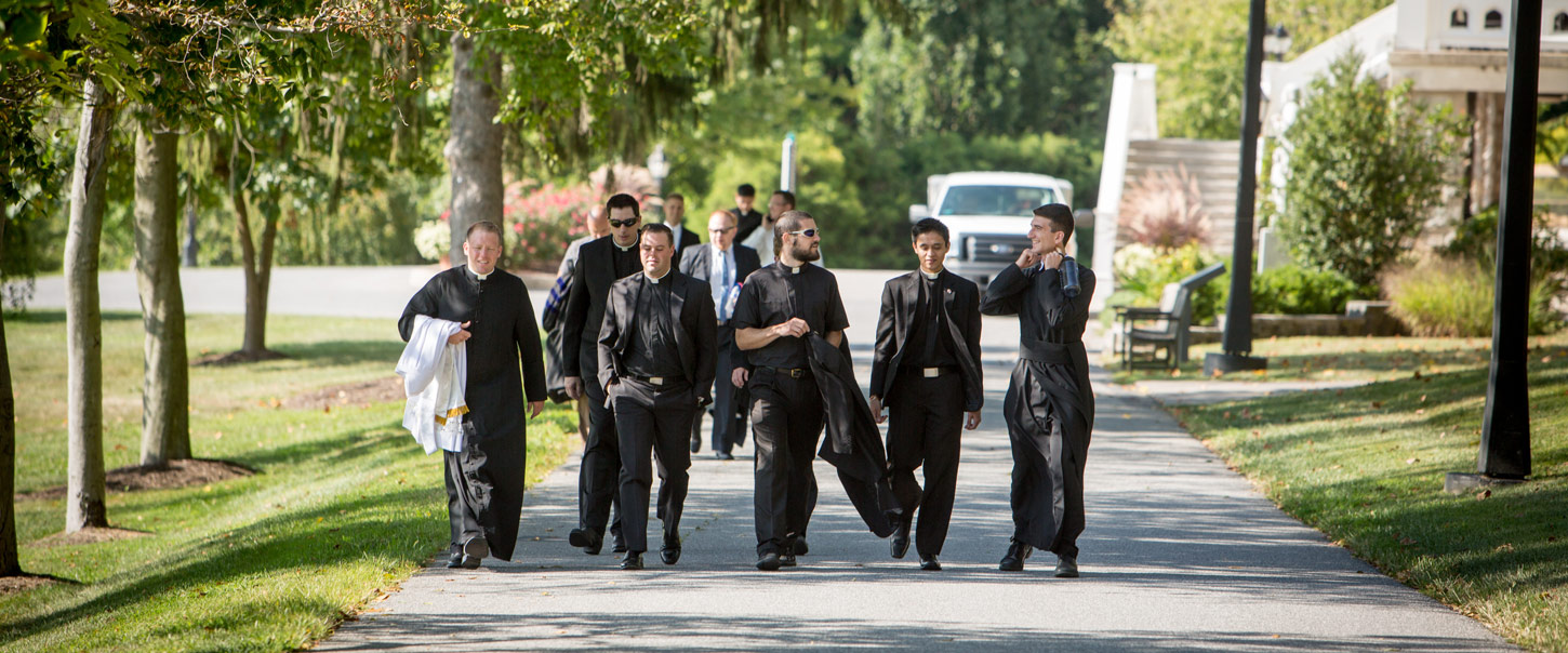 seminarians walking together